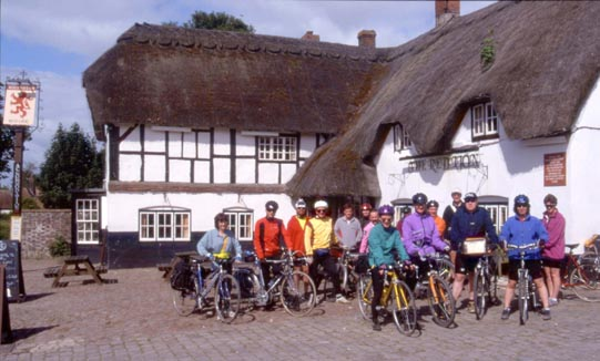 Riders outside the Red Lion