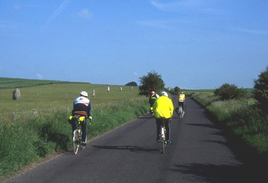 Cycling along Stone Avenue