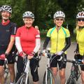 The Hendred posse looking confident at the start of 100 miles