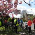 Stopping beneath the cherry trees in Southmoor - Back-on-your-Bike 2017