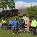 Back-on-your-bike riders at Charney Bassett, April 2017