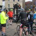 Ride briefing in Causton Market Place - Midsomer Murders Ride Sep17