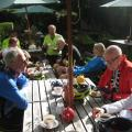 Cream tea stop at The Fox & Hounds, Christmas Common
