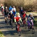 The 2* peloton on Great Brook Road