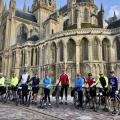 Bayeux Catherdal with cyclists